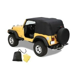 Pavement Ends Black Emergency Soft Top For 2004 2006 Jeep Wrangler Unlimited