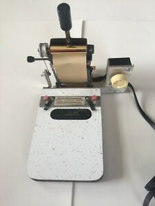 Vintage Gold Stamping Machine Gs491 Made By Veach Development Co