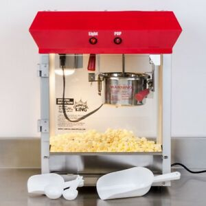 Nib Stainless Steel Red 4 Oz Electric Popcorn Machine Popper 120v 470w