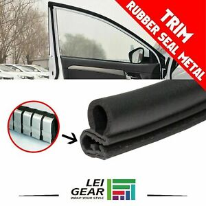 Rubber Door Seal Trim Edge Weatherstrip Protector Anti Collision Soundproof 10ft