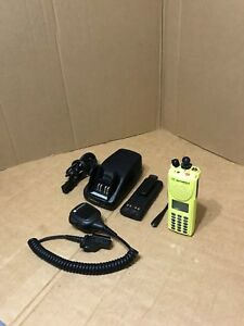 Yellow Motorola Xts3000 Police P25 Digital Uhf Radio Fire W programming Lapd