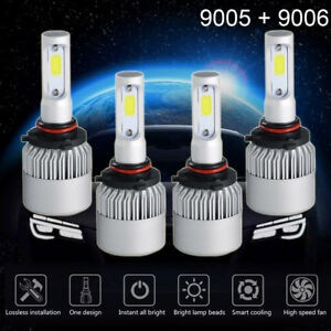 9005 9006 6000k 2600w 195000lm Combo Cree Led Headlight Kit High Low Light Bulbs