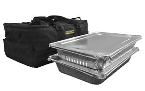 Catering Bag holds Up To Two Or Three Full Pans black