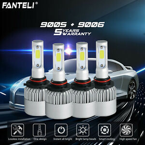 9005 9006 3600w 540000lm Combo Led Headlight Kit High Low Beam Bulbs 6000k White