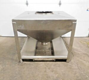 Ae 112 Stainless Steel Tote Bin 304 Ss 48 X 48 X 42