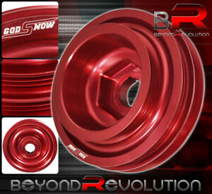 Civic Integra Del Sol Crv Crank B Series Underdrive Harmonic Balancer Pulley Red