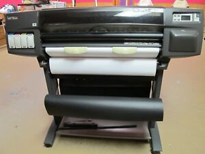 Hp Designjet 1055cm Wide Format Inkjet Printer Plotter Adobe Postscript 3 C6075a