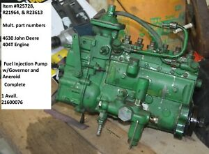 4630 John Deere 404t Engine Fuel Injection Pump W governor And Aneroid Complete