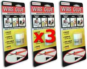 3x Highly Conductive Wire Glue Paint For Ac dc No Soldering Iron
