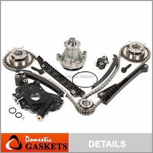04 08 Ford 5 4l 3v Timing Chain Kit Hp oil Pump Water cam Phasers cover Gaskets