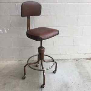 Mid Century Modern Smallnbrowm Swivel Adjustable Rolling Office Chair