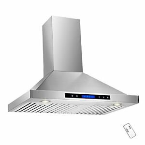 Akdy 36 Convertible Wall Mount Stainless Steel Ductless ventless Range Hood