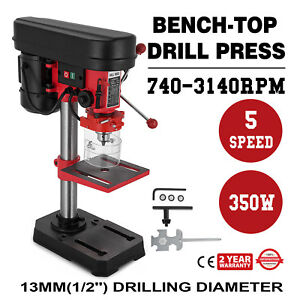 Drill Press 8 In Table Bench Top Variable Speed Laser Centering Woodworking