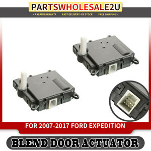 2x Hvac Heater Blend Air Door Auxiliary Actuator For Ford Expedition 604 213