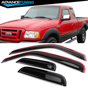 Fits 99 11 Ford Ranger 99 00 Mazda B2500 In Channel Acrylic Window Visors 4pc