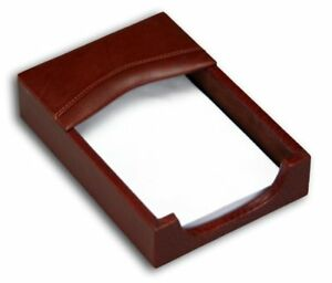 Dacasso Mocha Leather Memo Holder 4 inch By 6 inch