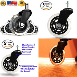 set Of 5 Office Addiction Rollerblade Chair Replacement Wheels Hardwood
