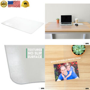Office Desk Mat Clear Textured 36 X 20 Inch Plastic Computer For