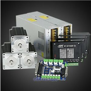 Revolutionary 5a Tb6600hg Stepper Controller Cnc Kit 3axis Nema23 2 5nm Motor