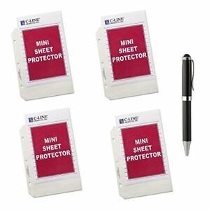 C line Top Loading Heavyweight Poly Sheet Protectors Clear Mini Size 8 5 X 50