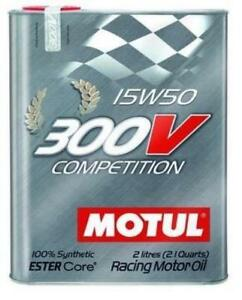 Motul 104244 300v Competition 15w50 Racing Motor Oil 2 Liter Can