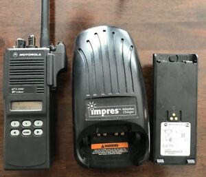 Motorola Vhf Mts2000 Model Ii W 2 Impres Batteries And Charger Free Programming