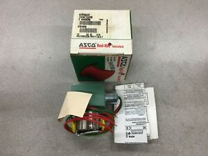 New In Box Asco Red hat Solenoid Valve 110 120v Coil 8262g220e