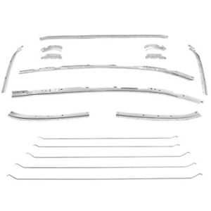 1964 1965 Chevy Chevelle Headliner Retainer Molding Kit 16 Pieces Set Dynacorn