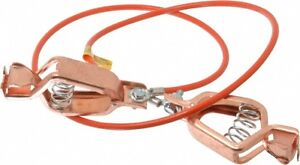 Hubbell Workplace 19 Awg 3 Ft Alligator Clip Grounding Cable With Clamps