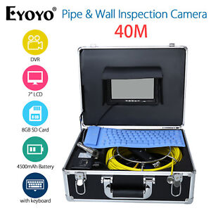 7 Lcd 40m131ft Pipe wall Inspection Camera Drain Sewer Recording Dvr W keyboard
