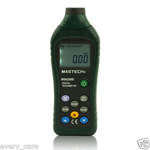 Mastech Ms6208b Digital Laser Photo Tachometer Rpm Meter Non Contact Tacometro