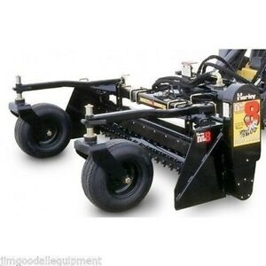 Harley Power Landscape Rake For New Holland Skid Steers 72 Wide hydraulic Angle