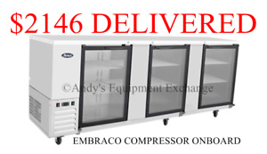 90 Inch 7 Feet 6 Back Bar Bottle Cooler Chiller Refrigerator Beer Bottles Nsf