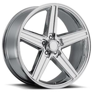 4 New Iroc 24x10 5x4 75 10 Chrome Wheels Chevrolet Pontiac Oldsmobile Buick