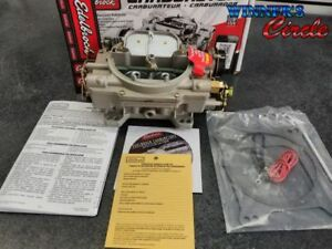 Edelbrock 1409 Carburetor Electric Choke 600 Cfm Square Bore For Marine Uses