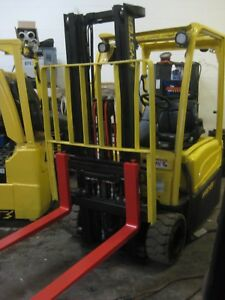 2011 Hyster narrow aisle Three wheel Sit down Forklift Finger Controls save