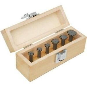 6 Piece T slot Cutter Tool Bit Set Slotter Mill Milling Machine