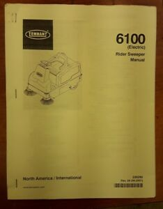 Tennant 6100 electric Rider Sweeper Manual