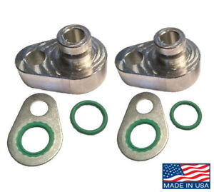 Rear A C Block Off Kit 2009 16 Ford Explorer Lincoln Mkt With Female Suction