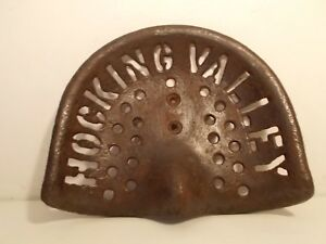 Rare Antique Vintage Cast Iron Tractor Seat Hocking Valley