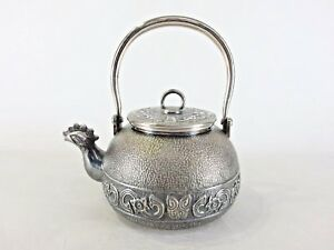 Japanese Antique Vintage Sterling Silver Sencha Ginbin Teapot 500ml 505g Chacha
