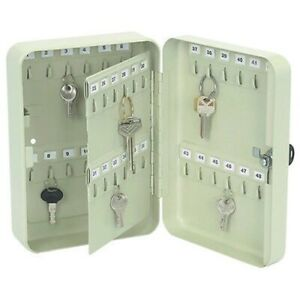 Steel Locking Hanging Wall Storage Cabinet Organizer Box Rack Lock Case Keyrack