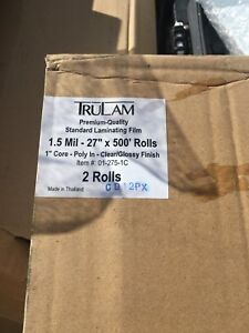 Trulam Standard 1 5 Mil Clear 27 inch X 500 feet X 1 Core Roll Laminating Film