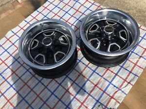 Oldsmobile 442 Rally Wheels 15 X 7 Set Of 2 Snap On Center Caps