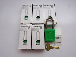 Master Lock 410grn Safety Lockout Lot Of 6