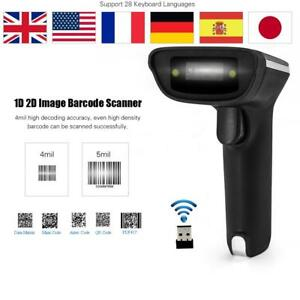 Portable Barcode Scanner Reader Bar Code Handheld Scan Usb Cable For Pos F4p8