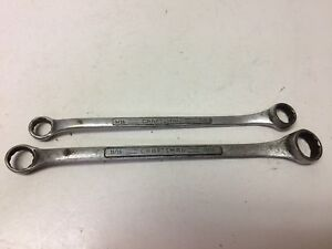 Lot Of 2 Vintage Craftsman V Usa Double Box Offset End Wrench 9 16 13 16