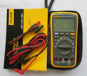 New Fluke 17b F17b Digital Multimeter W Free Case W Fluke Test Leads Tl75