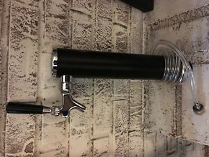 Single Tap Draft Beer 2 Tower Black Powder Coat Bar Pub Kegerator Keg Faucet