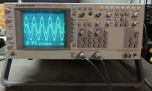 Fluke Pm3380b 100mhz 200ms s Combiscope Oscilloscope Tested Working Nice